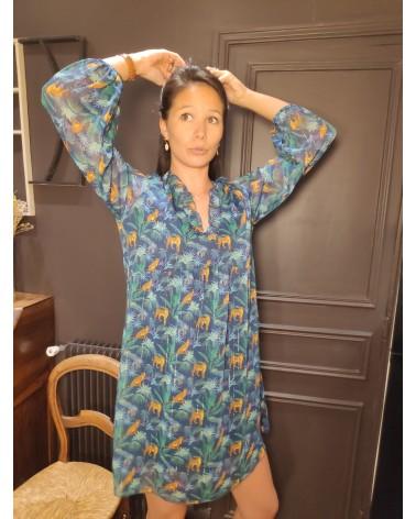 robe courte motifs savane