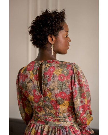 robe cintrée à la taille avec noeud ruban