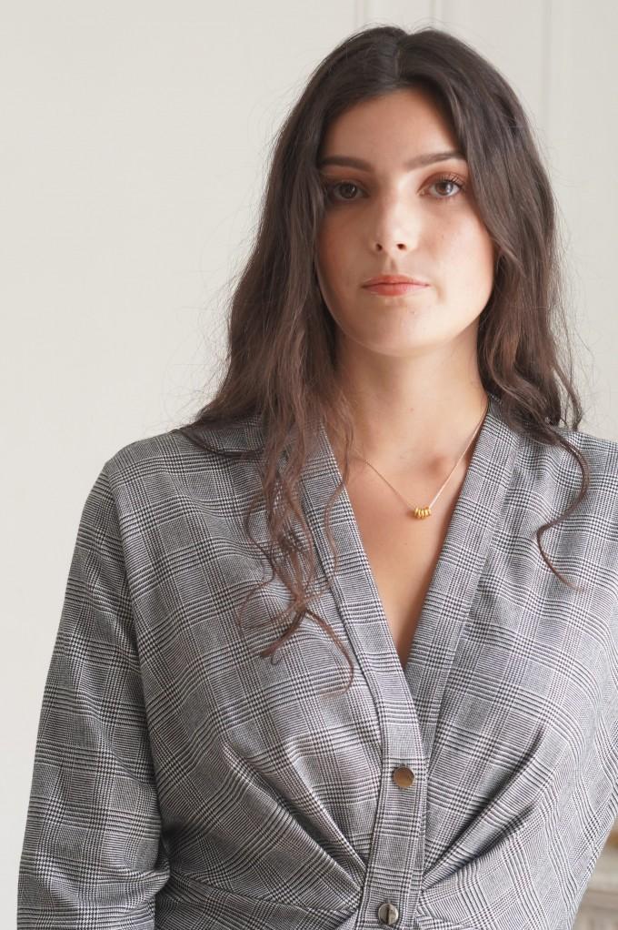 Robe droite grise