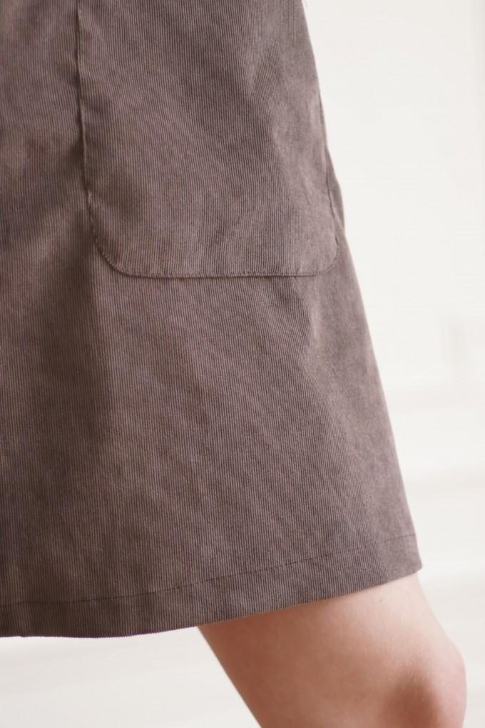 Robe courte avec poches