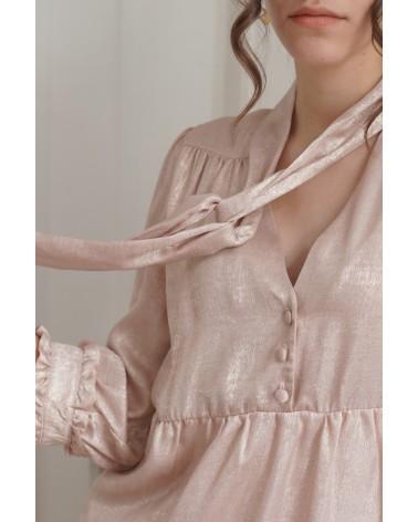 Robe décolleté en V avec noeud