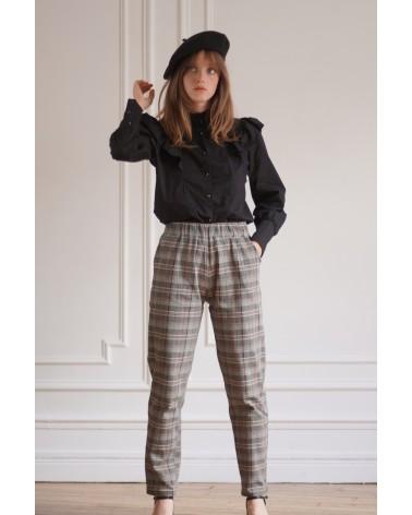 Pantalon motif écossais