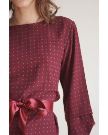 Robe avec ceinture ruban