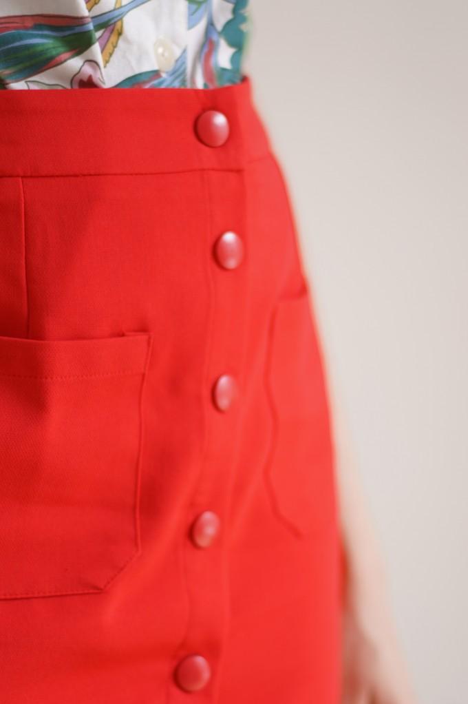 Jupe courte rouge
