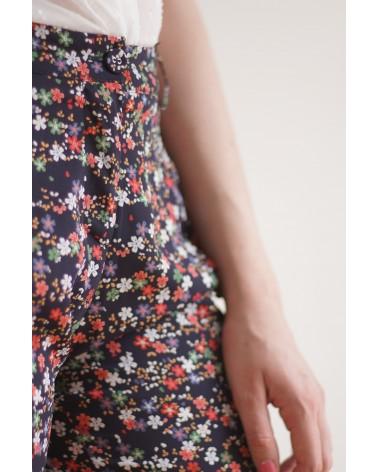 Pantalons motifs fleurs